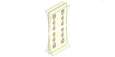 扉反り防止金具