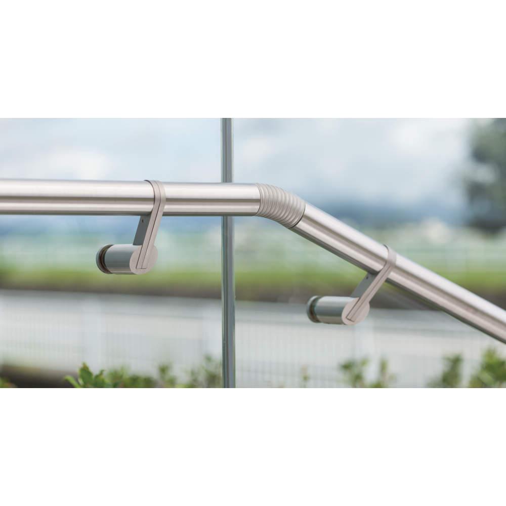 ガラス取付ブラケット14-6041-02型(別売品)との組み合せ例