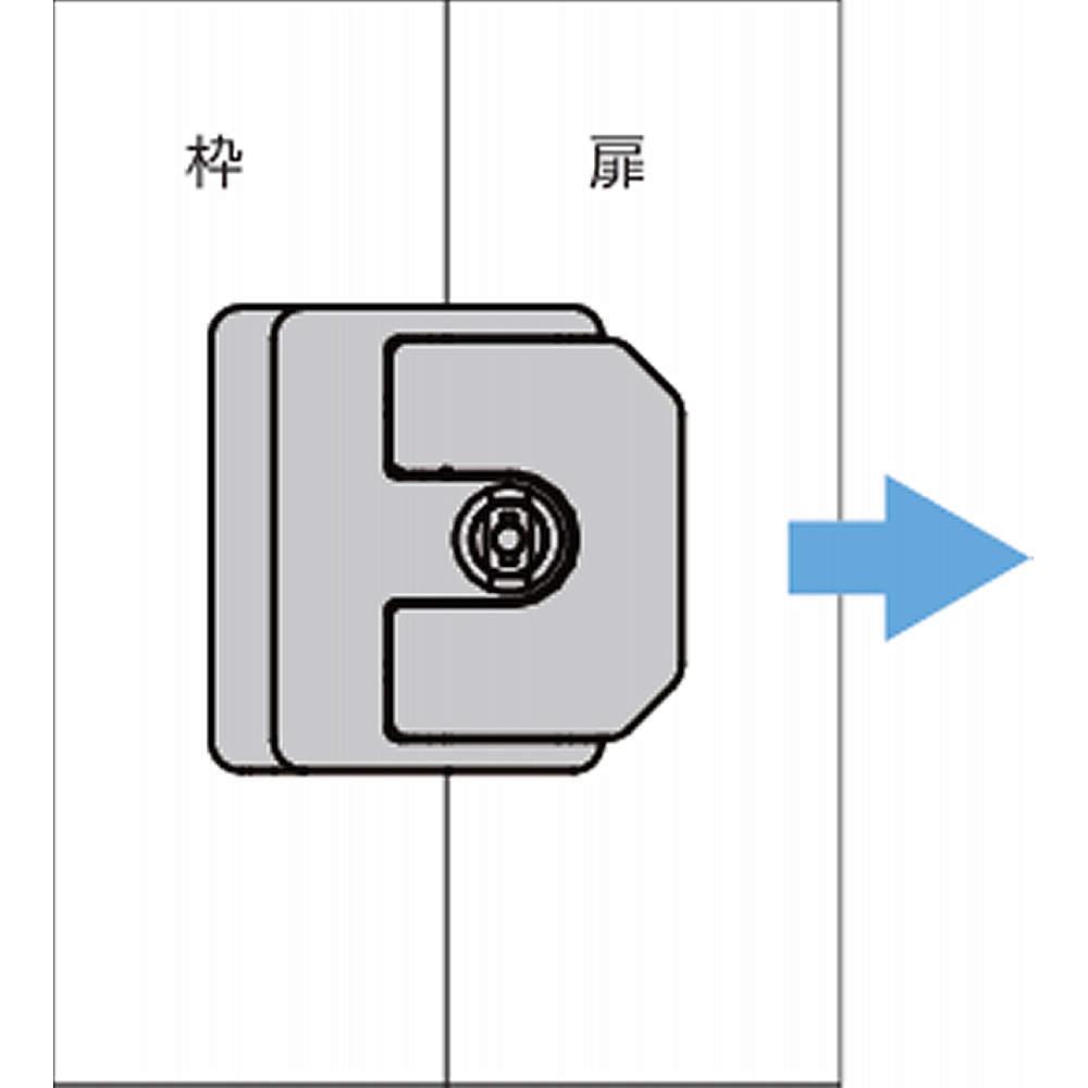 【使用例】<br>引戸用のラッチ錠です。