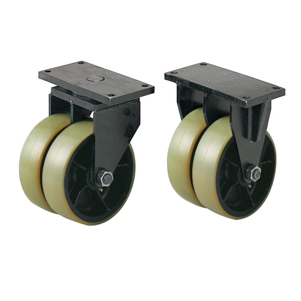 写真の車輪はU/ダーコ・ウレタンです。