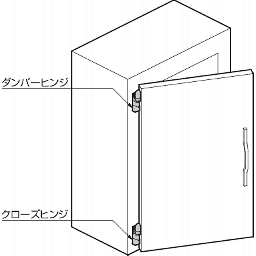 【取付例】<br>※ヒンジ取付ピッチ1200 mm以上
