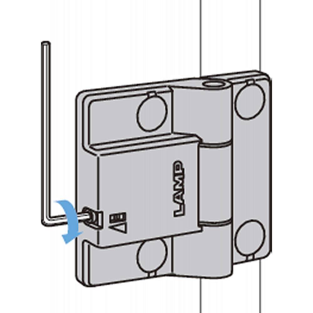 六角棒スパナで扉の閉じ速度を調整できます。