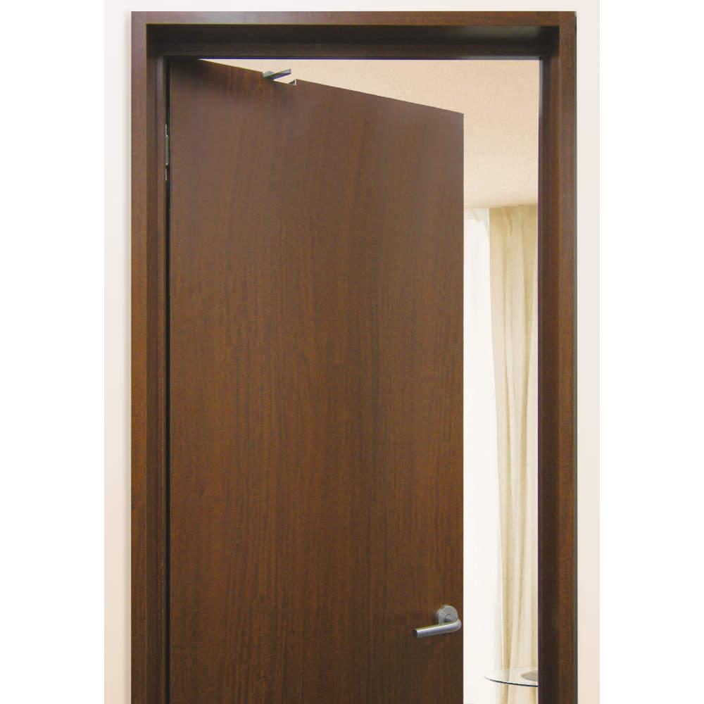 ドアを閉じると外側からドアダンパーが見えません。(写真:右吊元用)