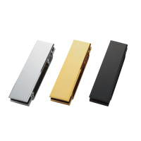 別売のガラス扉用ブラケットHES3D-G120BKTを使えばガラス戸に使うことができます。