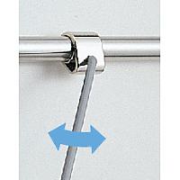 プルバーのジョイント部はフレキシブルに動きます。<br>(注)プルバーを引く位置によって操作力は変わります